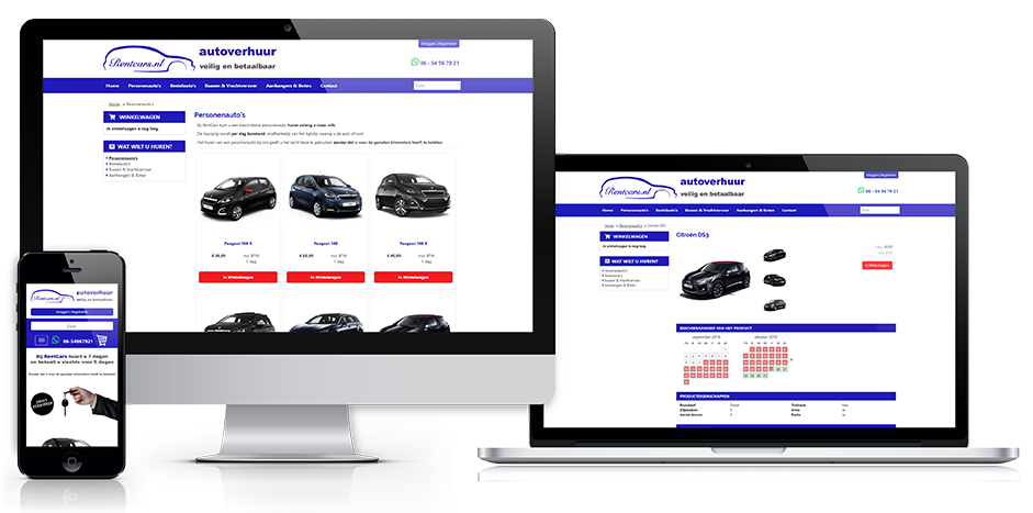 Screenshot rentcars