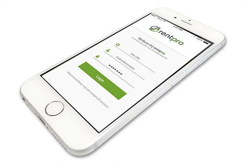 Voorbeeld Rentpro iPhone iOS app