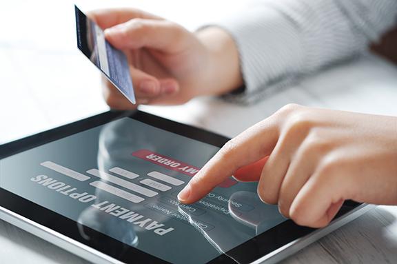 Online betalen bij een mobiele verhuur webshop